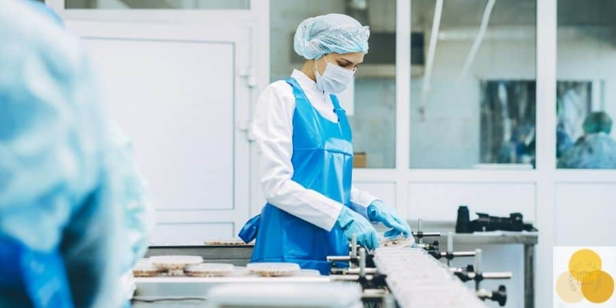 Manufacturing defect factory picture of woman