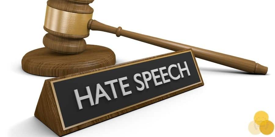 Hate speech sign in lawsuit