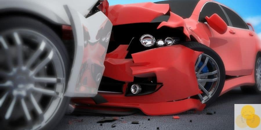 head on collision two cars