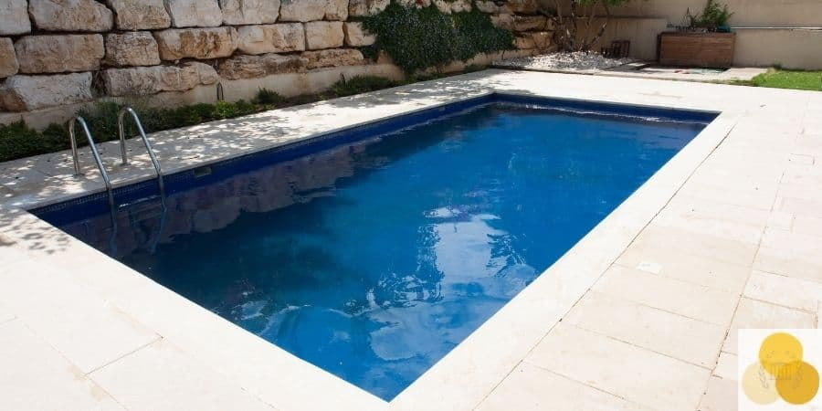 Attractive nuisance pool in backyard