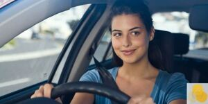 Driver obligations--picture of woman driving